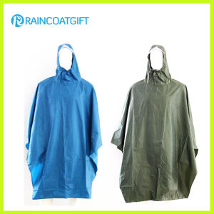 Adult Polyester PVC Rain Poncho Rpy-052 pictures & photos