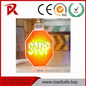 Roadsafe Solar Stop Sign Blink Light Aluminum Symbols Traffic Reflective Signs pictures & photos