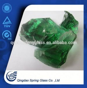 10-15cm Large Green Glass Rocks pictures & photos
