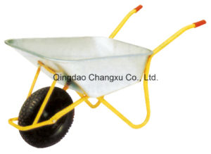 85L Plastic Tray Pneumatic Wheel Wheelbarrow Wb6404h (Manufacture)