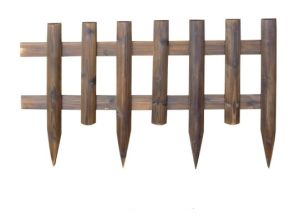 Colorful High Quality Wooden Fence Garden Railing for Garden Decoration pictures & photos