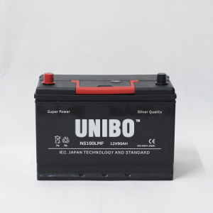 Auto Battery High Performance JIS Standard Ns100L Mf 12V90ah Car Battery pictures & photos