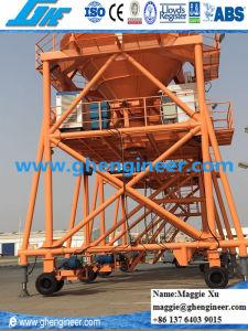 Slag Clinker Coal Wheat De-Dusting Rubber Tire Mobile Hopper pictures & photos