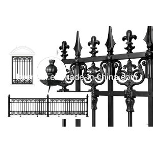 Villa Decorative Modern Design Metal Cast Aluminum Garden Fence pictures & photos