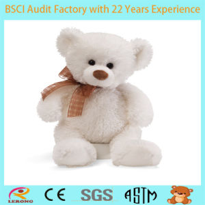 Stuffed and Super Soft White Plush Teddy Bear Toy pictures & photos
