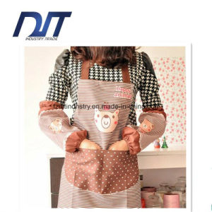 Kitchen Restaurant Cooking Aprons with Pocket for Women with Oversleeve