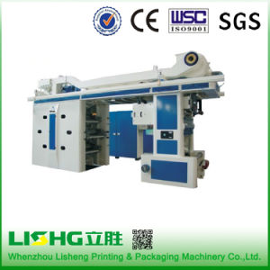 Lisheng 6 Color Central Drum Flexographic Printing Machine in China pictures & photos