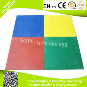SBR Colorful Outdoor En1177 Certificated Safety Rubber Flooring Mats pictures & photos