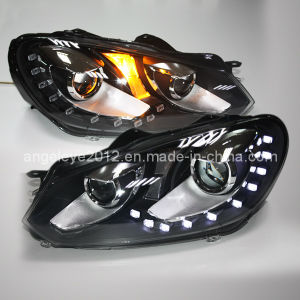 10 PCS LED Golf 6 LED Head Lamps for Vw