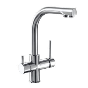 Oppein Double Holes Kitchen Faucet with Two Handles (OP-ST19A) pictures & photos