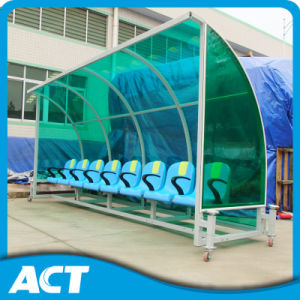 Outdoor Soccer Substitute Bench /Football Team Shelter for Soccer Players, Coaches and Referee pictures & photos