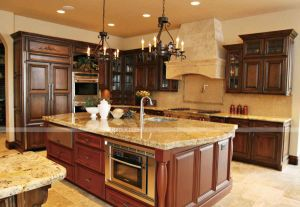 Home Furniture Solid Wood Antique Wood Kitchen Cabinet Design, Full Solid Wood pictures & photos
