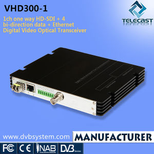 1CH One Way HD-SDI + 4 Bi-Direction Data + Ethernet Digital Video Optical Transceiver (VHD300-1VD)
