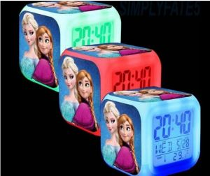 3D Cartoon Digital Desk Table Alarm Clock Daily Alarms Change Watch Glowing Clocks Custom Order
