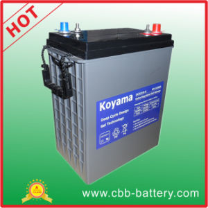 310ah 6V Deep Cycle Gel Battery for Recreational Vehicle pictures & photos