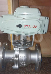 316 Stainless Steel Pneunatic Trunnion Ball Valve with Flange pictures & photos
