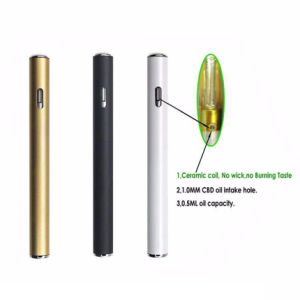 0.5ml Flat Cbd Oil Disposable E Cigarette/ Vaporizer Pen pictures & photos