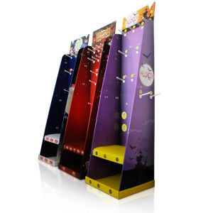 Floor Display with Hooks, Cardboard Pop Retail Stand Display pictures & photos