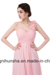 Women Sleeveless Chiffon Sexy Evening Party Bridesmaid Dresses pictures & photos