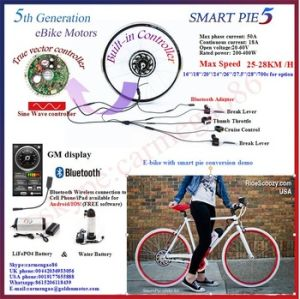 Smart Pie 5 200W-500W Electric Bicycle Motor with Ce, Built-in Programmable Controller pictures & photos