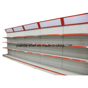 Steel Material Supermarket Goods Display Back Hole Shelf pictures & photos