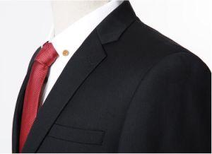 Black Men′s Bespoke Wedding Dress Groom Suits pictures & photos
