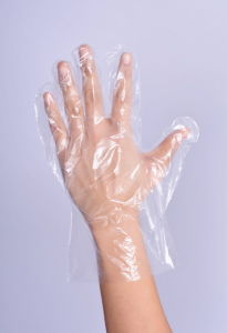 Clear Powder Free Polyethylene Disposable Gloves pictures & photos