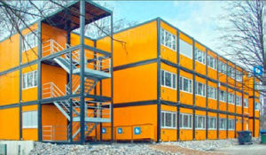 Good Quality Steel Framerockwool Sandwich Panel Prefab Labor Camp House pictures & photos