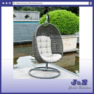 Single Seat Comfortable Hanging Swing for Outdoor Garden Rattan Furniture, Patio Wicker Hanging Chair Set (J3918) pictures & photos