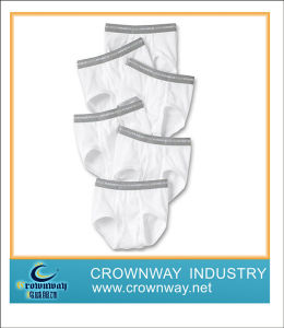 Plain White Dyed Baby Underwear for Boys pictures & photos