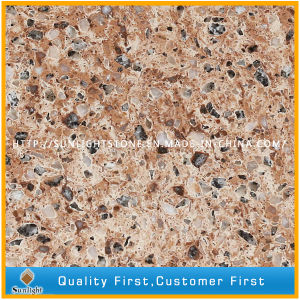 Artificial Mixed Color Sparkles Quartzite/Quartz Stone pictures & photos
