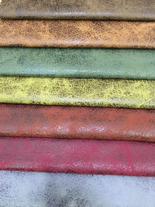 Suede Sofa Fabric with Leather Looking Sofa Fabric (JH038) pictures & photos