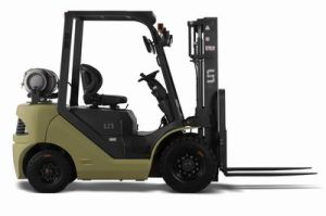 Un Capacity 2000kg 2.0t Gasoline and LPG Dual Fuel Forklift with Original Japanese Imported Nissan K25 Engine pictures & photos
