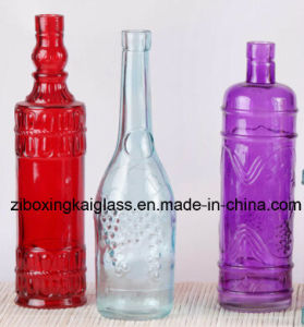 Glass Bottle with Spraying Color