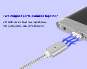 Magnetic 2 in 1 Magnet Cable for iPhone and Android pictures & photos