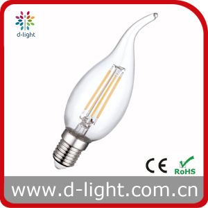 Cal35 4W E14 All Glass Candle Tailed Filament LED Bulb pictures & photos