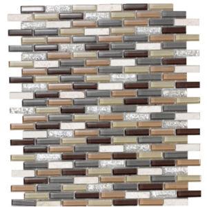 Bosnia Crystal Glass Wall Tiles Mosaic (D 1063)
