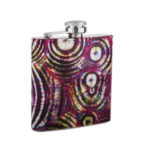 Luxury Hip Flask Made of Stainless Steel with Leather Bound