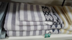 100% Cotton Jacquard Satin Towel, Bath Towel