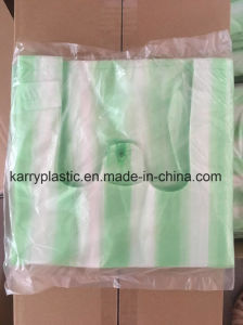 Plastic Carrier Garbage Bags with Colorful Stripe pictures & photos