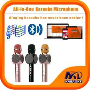 Wireless Bluetooth Microphone Multi-Function Karaoke Player Home Mini Karaoke Player KTV Singing Record for iPhone Smart Phone Tablet PC Laptop pictures & photos