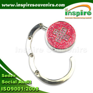 Portable Cross Metal Hook with Glitter and Stones pictures & photos