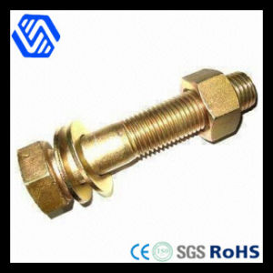 High Strength Hex Head Brass Bolt Nut with Washers (DIN 6914) pictures & photos