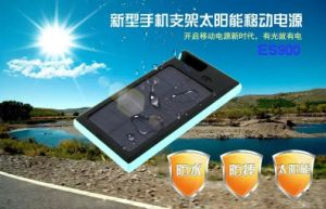 Solar Power Bank Charger with Mobile Phone Stand Function pictures & photos