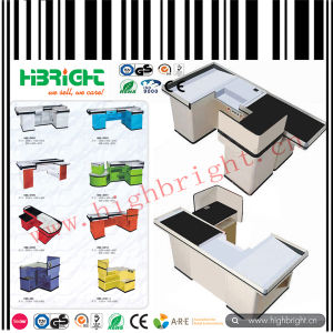 White Color Cashier Checkout Counter for Supermarket pictures & photos