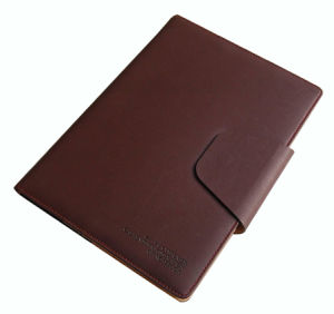High Quality Elegant Brown Colour Leather Notebook (YY-N0100) pictures & photos