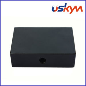 Black Epoxy Coating Block NdFeB Magnets with Hole (F-008) pictures & photos