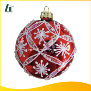Red Color Christmas Glass Ball 80mm pictures & photos