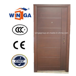 Ceeurop Market Security Steel MDF Wood Veneer Armored Door (W-A1) pictures & photos