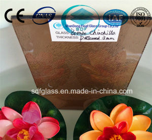 Tinted Bronze Chinchilla Patterned Glass with CE, ISO